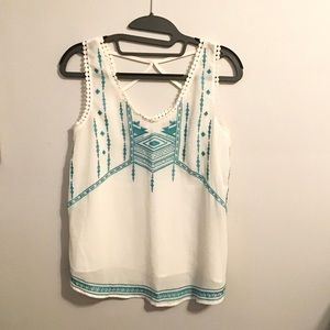 Embroidered xhilaration Tank Top